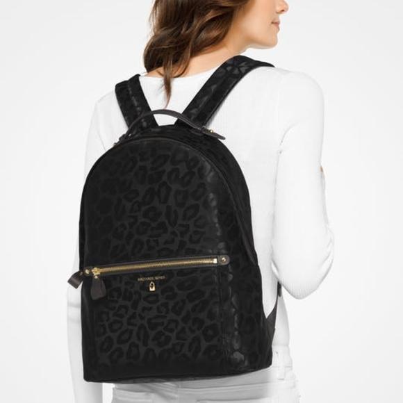 b94af3d3e1c7 Michael Kors Bags | Kelsey Large Leopard Nylon Backpack | Poshmark